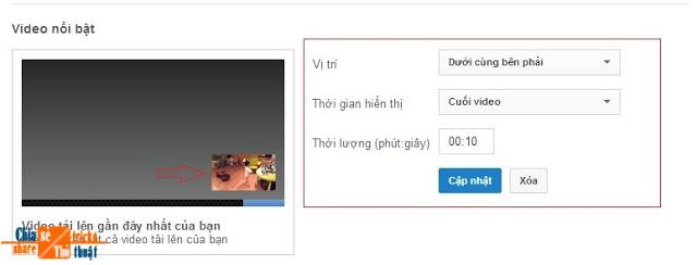 Cách chèn logo ( hoặc hình ) lên video Youtube