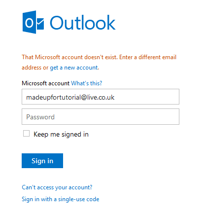 getting email